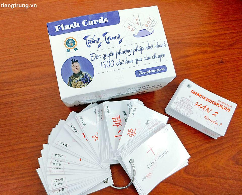 Flashcard học tiếng trung - 1500 câu chuyện chữ Hán